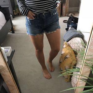 A&F high rise shorts